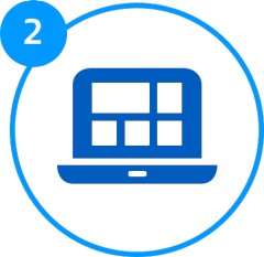 Step 2 of Switching your business energy supplier - Review your new contract - laptop icon