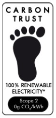 The Carbon Trust 100% renewable label