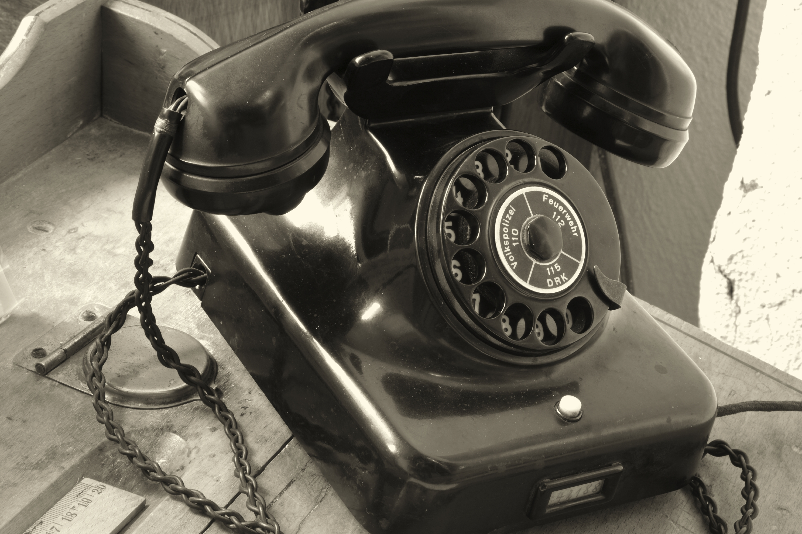 historic old telephone