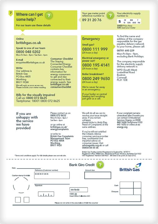 Understanding your bill - British Gas
