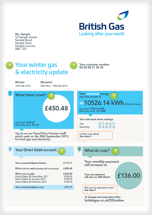 how to read your gas and electric bill