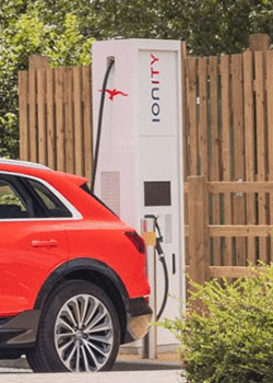 Rapid charger – Business electric vehicle charging point installation