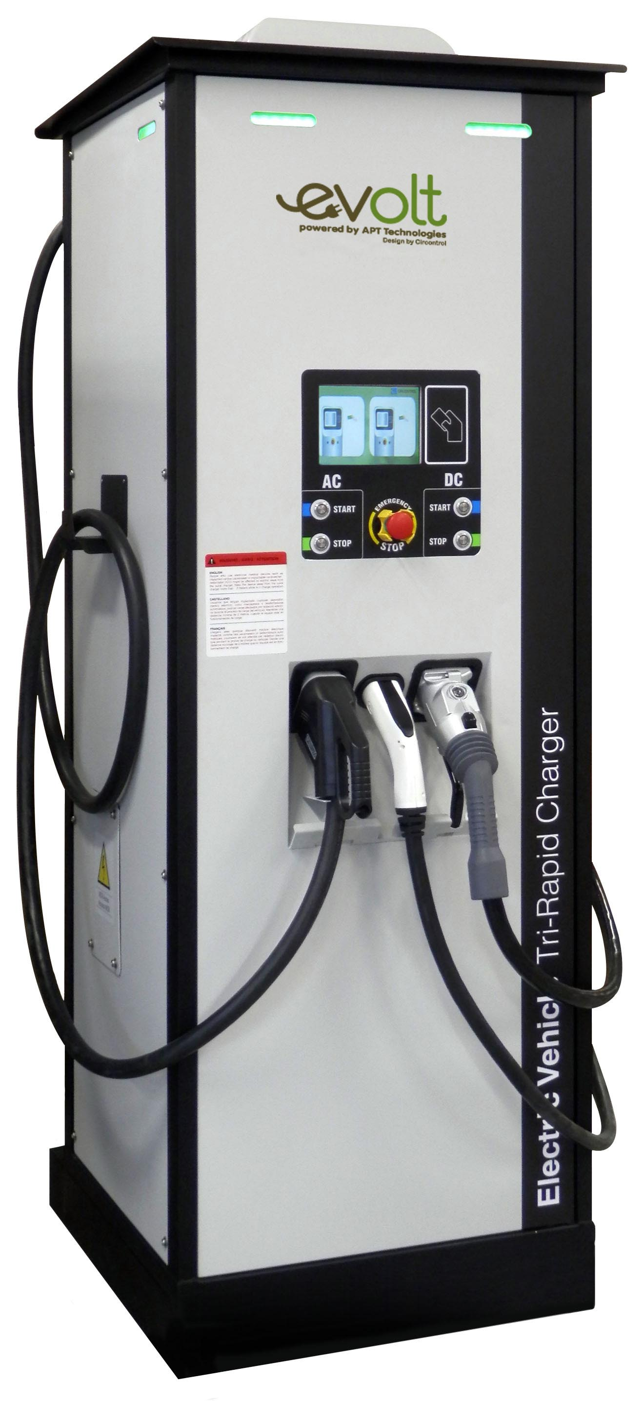 A rapid charger for a business' electric vehicles