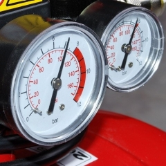Gauges showing compressed air pressure