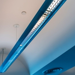 Strip lighting in a public sector building